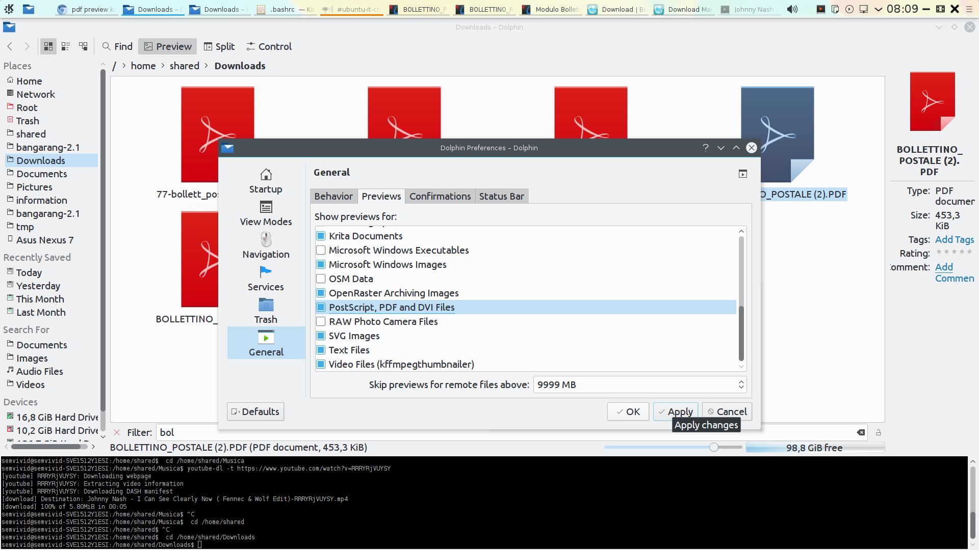 pdf preview kde kubuntu | NoWa...